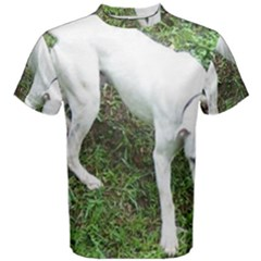 Boxer White Puppy Full Men s Cotton Tee