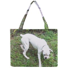 Boxer White Puppy Full Mini Tote Bag