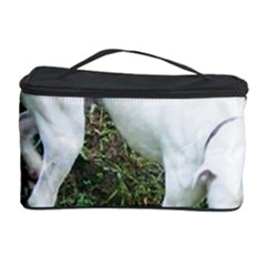 Boxer White Puppy Full Cosmetic Storage Case