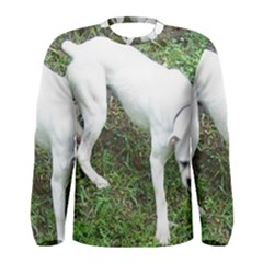 Boxer White Puppy Full Men s Long Sleeve Tee
