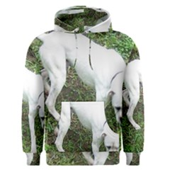 Boxer White Puppy Full Men s Pullover Hoodie