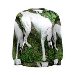 Boxer White Puppy Full Women s Sweatshirt