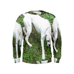 Boxer White Puppy Full Kids  Sweatshirt