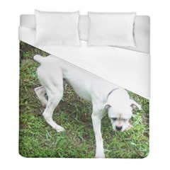 Boxer White Puppy Full Duvet Cover (Full/ Double Size)