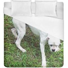 Boxer White Puppy Full Duvet Cover (King Size)