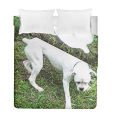 Boxer White Puppy Full Duvet Cover Double Side (Full/ Double Size)