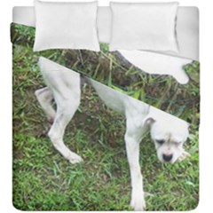Boxer White Puppy Full Duvet Cover Double Side (King Size)