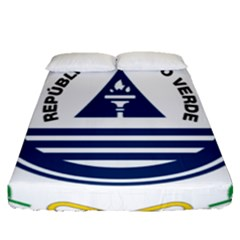 National Emblem Of Cape Verde Fitted Sheet (queen Size)
