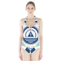 National Emblem of Cape Verde Halter Swimsuit
