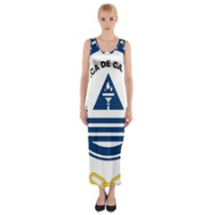 National Emblem of Cape Verde Fitted Maxi Dress