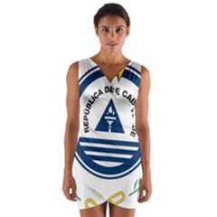 National Emblem of Cape Verde Wrap Front Bodycon Dress