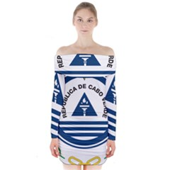 National Emblem of Cape Verde Long Sleeve Off Shoulder Dress