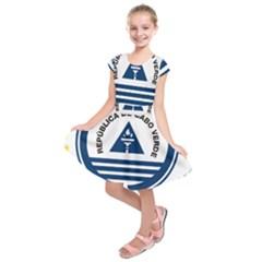 National Emblem of Cape Verde Kids  Short Sleeve Dress