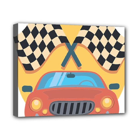 Automobile Car Checkered Drive Canvas 10  x 8