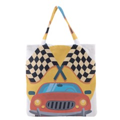 Automobile Car Checkered Drive Grocery Tote Bag