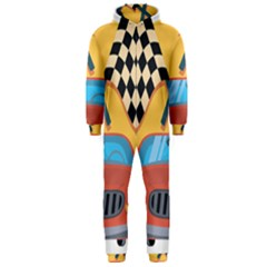 Automobile Car Checkered Drive Hooded Jumpsuit (Men)