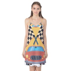 Automobile Car Checkered Drive Camis Nightgown