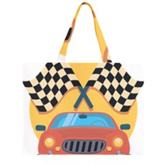 Automobile Car Checkered Drive Large Tote Bag