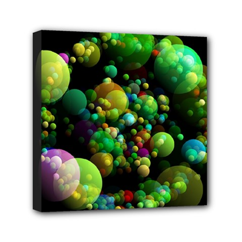 Abstract Balls Color About Mini Canvas 6  x 6