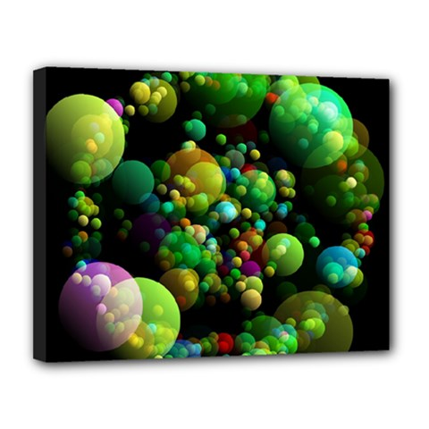 Abstract Balls Color About Canvas 14  x 11