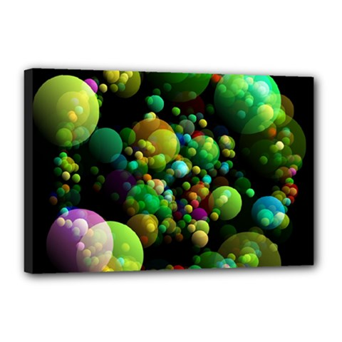 Abstract Balls Color About Canvas 18  x 12