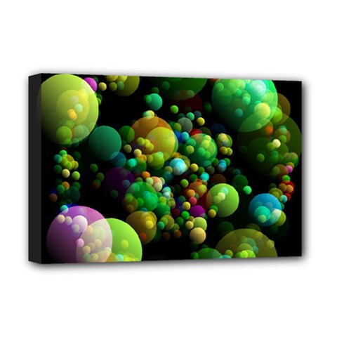 Abstract Balls Color About Deluxe Canvas 18  x 12