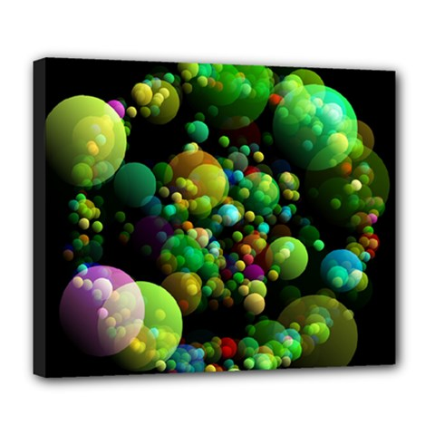 Abstract Balls Color About Deluxe Canvas 24  x 20