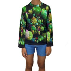 Abstract Balls Color About Kids  Long Sleeve Swimwear