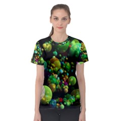 Abstract Balls Color About Women s Sport Mesh Tee