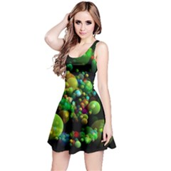 Abstract Balls Color About Reversible Sleeveless Dress