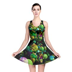 Abstract Balls Color About Reversible Skater Dress