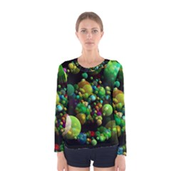 Abstract Balls Color About Women s Long Sleeve Tee