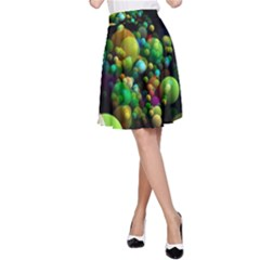 Abstract Balls Color About A-Line Skirt