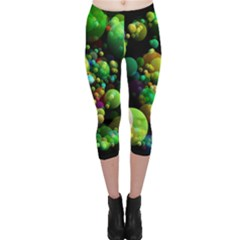 Abstract Balls Color About Capri Leggings