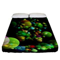 Abstract Balls Color About Fitted Sheet (Queen Size)
