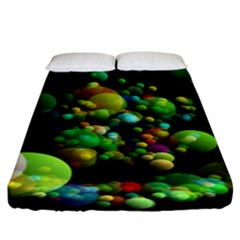 Abstract Balls Color About Fitted Sheet (King Size)