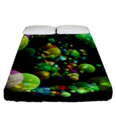 Abstract Balls Color About Fitted Sheet (California King Size)