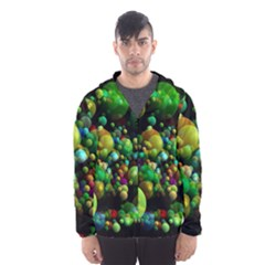 Abstract Balls Color About Hooded Wind Breaker (Men)