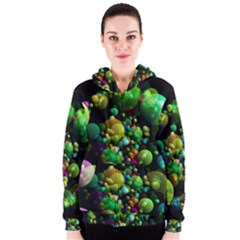 Abstract Balls Color About Women s Zipper Hoodie