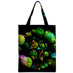 Abstract Balls Color About Zipper Classic Tote Bag