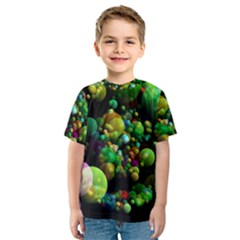 Abstract Balls Color About Kids  Sport Mesh Tee