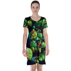 Abstract Balls Color About Short Sleeve Nightdress