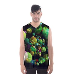 Abstract Balls Color About Men s Basketball Tank Top