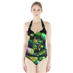 Abstract Balls Color About Halter Swimsuit