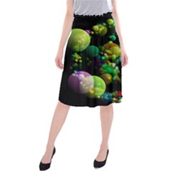 Abstract Balls Color About Midi Beach Skirt