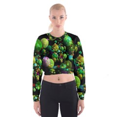 Abstract Balls Color About Women s Cropped Sweatshirt