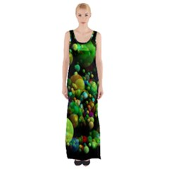 Abstract Balls Color About Maxi Thigh Split Dress