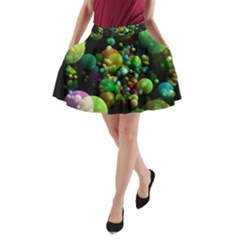 Abstract Balls Color About A-Line Pocket Skirt