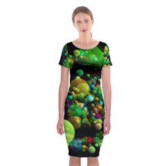 Abstract Balls Color About Classic Short Sleeve Midi Dress