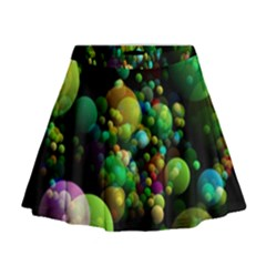 Abstract Balls Color About Mini Flare Skirt